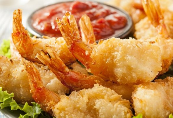 seafood B-Mac's lovely Coconut Shrimp